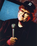 Michael Moore Posed in Black Suit With Cap Photo by  Movie Star News