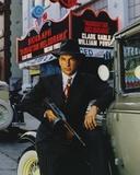 Mark Harmon Posed Holding a Thompson Drum Machine Gun in Black Hat and Suit Photo by  Movie Star News