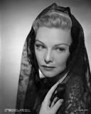 Madeleine Carroll Posed in Black Dress with Veil Photo by  Movie Star News