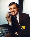 Robert Vaughn Portrait in Brown Suit Photo by  Movie Star News