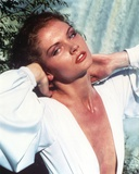 Lois Chiles Portrait in White Dress Photo by  Movie Star News