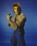 Lou Ferrigno Posed as Incredible Hulk with Blue Background Photo by  Movie Star News