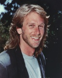 Peter Horton smiling in Close Up Portrait wearing Gray Shirt with Vest Photo by  Movie Star News