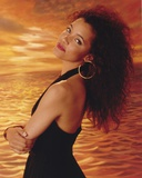 Michael Michele Posed in Black Dress Portrait Photo by  Movie Star News