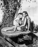 Johnny Weissmuller Making a Love Scene with a Woman in a Classic Movie Scene Photo by  Movie Star News