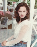 Marlee Matlin in White Dress Portrait Photo by  Movie Star News
