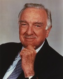 Walter Cronkite Rubbing Chin with Hand Photo by  Movie Star News