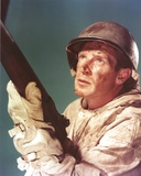 Richard Basehart Posed in Military Outfit with a Rifle Photo by  Movie Star News