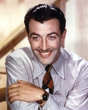 Robert Taylor smiling in Shirt and Tie Photo by  Movie Star News