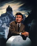 Rod Serling Leaning on Gravestone Photo by  Movie Star News