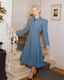 Penny Singleton standing in Blue Dress Portrait Photo by  Movie Star News