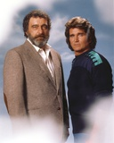 Michael Landon posed with A Man Portrait Photo by  Movie Star News