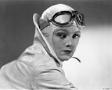 Myrna Loy Posed in Classic with Pilot Goggles Photo by  Movie Star News