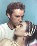 Richard Burton Blue Background Couple Portrait Photo by  Movie Star News