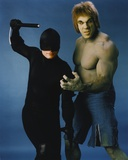 Lou Ferrigno as Incredible Hulk with Dare Devil Portrait Photo by  Movie Star News