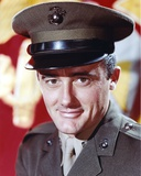 Robert Vaughn smiling in Army Uniform Photo by  Movie Star News