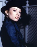 Rebecca Demornay in Black Coat with Hat Close Up Portrait Photo by  Movie Star News