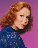 Katherine Helmond Side View Pose in Blue Dress Photo by  Movie Star News