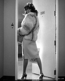 Rachel Ward Posed wearing Fur Coat in Black and White Portrait Photo by  Movie Star News
