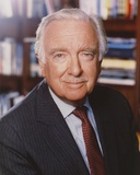 Walter Cronkite Posed in Black Suit Photo by  Movie Star News