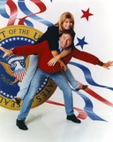 John Ritter Giving a Piggy Back Ride to a Woman in a Portrait Photo by  Movie Star News