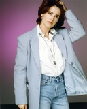 Kim Delaney Posed in Gray Coat Photo by  Movie Star News