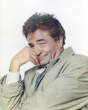 Peter Falk Posed in Gray Coat Portrait with White Background Photo by  Movie Star News