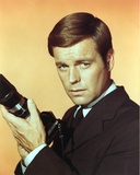 Robert Wagner Posed in Black Suit Photo by  Movie Star News