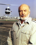 Pernell Roberts Posed with Helicopter at the Back Portrait Photo by  Movie Star News