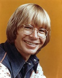 John Denver Orange Background Close Up Portrait Photo by  Movie Star News