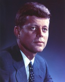 John Kennedy wearing a Blue Suit and a Polka Dot Necktie Photo by  Movie Star News