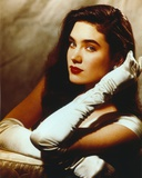 Jennifer Connelly Portrait in White Gown with Gloves Photo by  Movie Star News