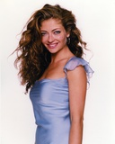 Rebecca Gayheart smiling in Portrait wearing Blue Silk Dress Photo by  Movie Star News