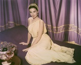 Jean Simmons in White Dress portrait Photo af Movie Star News