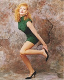 Marg Helgenberger Posed in Sexy Green Dress with Heels Photo by  Movie Star News