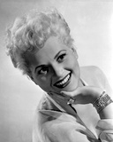 Judy Holliday Leaning Backwards and smiling Portrait Photo by  Movie Star News