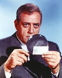 Raymond Burr in Formal Outfit with Magnifying Glasses Portrait Photo by  Movie Star News