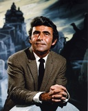 Rod Serling smiling and Leaning on Gravestone Photo by  Movie Star News