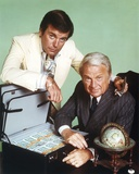Robert Wagner in White Suit with Old Man in Suit Photo by  Movie Star News