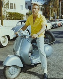 Ron Harper Drove a Scooter in Yellow Polo Shirt Photo by  Movie Star News