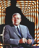 Raymond Burr sitting in Tuxedo Portrait Photo by  Movie Star News