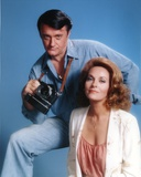 Robert Vaughn Holding a Camera in Blue Background Photo by  Movie Star News