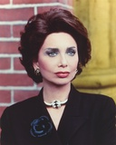 Suzanne Pleshette in Black Long Sleeve Blouse with Necklace Photo by  Movie Star News