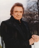 Johnny Cash wearing a Black Suit Photo by  Movie Star News