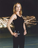 Marg Helgenberger Leaning in Wall with Red Dress Photo by  Movie Star News