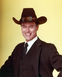 Larry Hagman smiling in Black Suit Photo by  Movie Star News