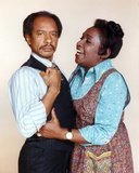 Jeffersons Man in Black Vest Suit with Stripe Long Sleeves and Woman in Blue Long Sleeves and Brown Photo by  Movie Star News