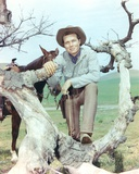Laramie Cast posed on Tree Branch Cowboy Outfit Photo by  Movie Star News
