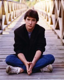 John Cusack sitting on the Bridge Photo by  Movie Star News