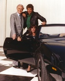 Knight Rider Posed on Black Sports Car Group Picture Foto von  Movie Star News
